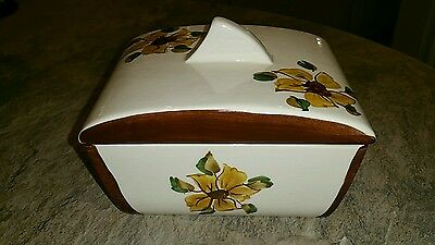 Babbacombe Pottery Lidded Butter Dish