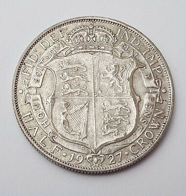 1927 - Silver Coin - Half Crown - Great Britain - King George V - English UK