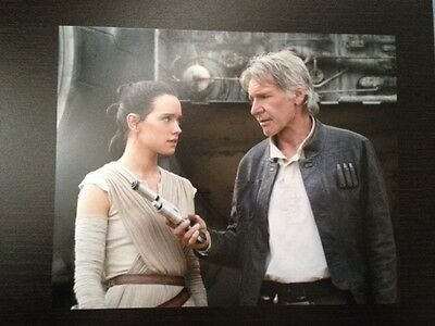 "Star Wars Photo 10""x8"" Daisy Ridley and Harrison Ford"