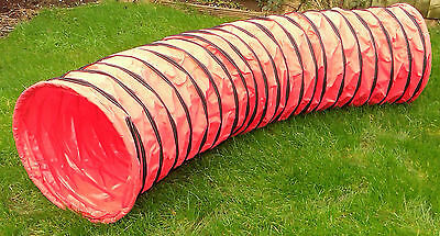 3m Dog Agility Equipment Tunnel Red KC - UKA spec