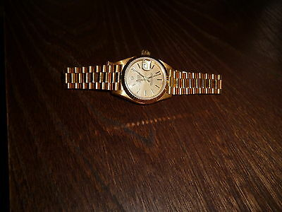 Rolex Ladies 18ct Yellow Gold Datejust Watch President 69178
