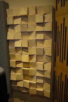 Custom Multifuser Solid Wood 36 Diffusion Panel Acoustic Treatment Skyline
