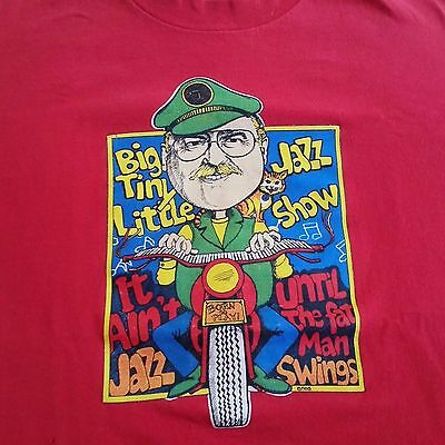 Big Tiny Little Jazz Show Tshirt, Red, Hanes Size L