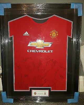 Manchester United Squad Signed Shirt 2016 with COA