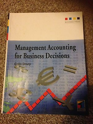 management accounting for business decisions Book By Colin Drury