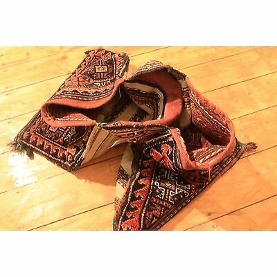 Antique Collector Piece Handknoted Kazak Bag Tappeto Carpet Rug Alter Teppich