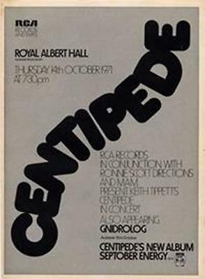 Centipede Gnidrolog Royal Albert Hall concert advert Time Out cutting 1971