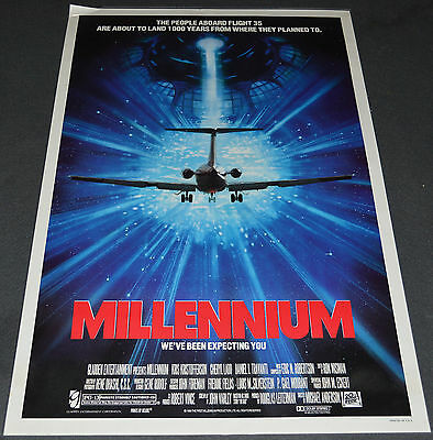 MILLENNIUM 1989 ORIG. 27x41 MOVIE POSTER! CHERYL LADD SCI-FI TIME TRAVEL ACTION!