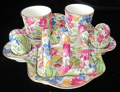 "RARE VINTAGE ROYAL WINTON ""SPRINGTIME""  BREAKFAST SET -  incl. TOAST STAND**"