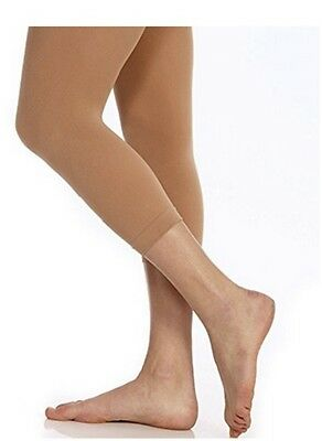 Body Wrappers C33 Girl's Size Medium/Large (8-14) Jazzy Tan Footless Tights
