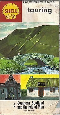 Shell Southern Scotland & The Isles Of Man  Original price 1/- Circa 1960