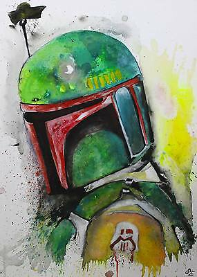 Pop Art -  Star Wars  Boba Fett - Empire strikes back - 50x70cm - handgemalt