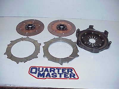 "New Quarter master 7.25"" V-Drive Double Disc 26 Spline Clutch IMCA Wissota UMP"