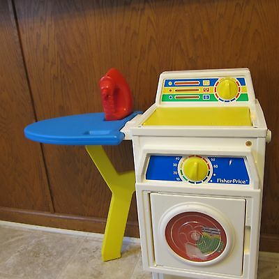 Vintage Fisher Price Washer & Dryer Child Size Laundry Center w/ Red Iron
