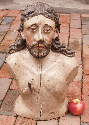 Italian Carved Bust of Christ