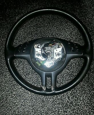 Bmw E46 Compact Leather Multifunction Airbag Steering Wheel