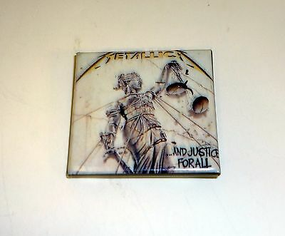 METALLICA AND JUSTICE FOR ALL BUTTON PIN Vintage Rock Badge Accessory 1990
