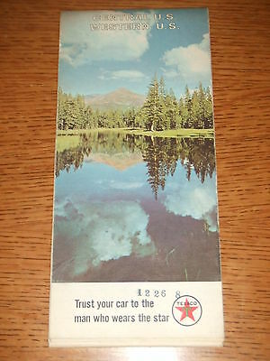 VINTAGE 1967 PROMO Texaco Oil Gas Central Western United States Highway Road Map