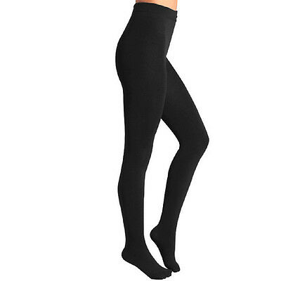 Body Wrappers C80 Girl's Size Medium/Large (8-14) Black Full Footed Tights