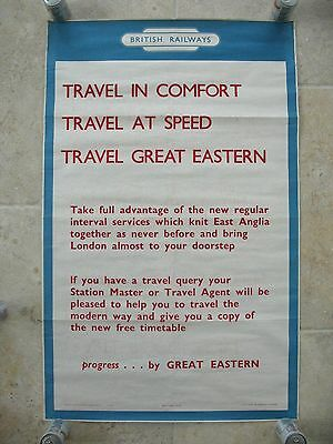 Original 1950s British Railways Progress by Great Eastern East Anglia London