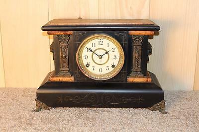Antique Seth Thomas Adamantine Mantle Clock ~ Made in 1901 ~