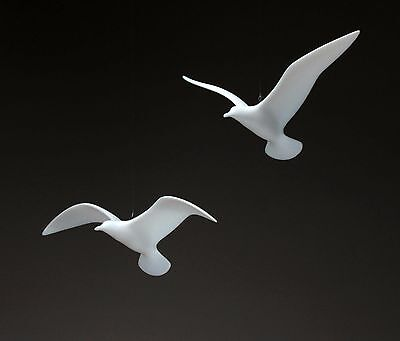 SEAGULL MOBILE Sculpture New direct from JOHN PERRY 9in Wingspan Statue Art