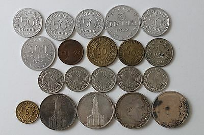 20 Pc. Lot Assorted German Coins 1920-1930s.