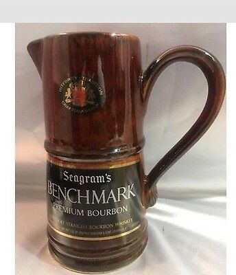 Seagrams Benchmark Premium Bourbon  Ceramic Pitcher.