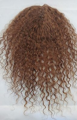 "Curly 16"" Pull Through Hand Made 100% Human Hair Clip in Topper Filler Volumizer"