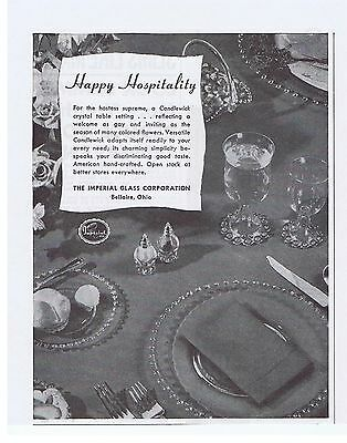 1951 Imperial Glass Candlewick Hospitality Print Ad