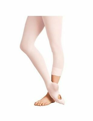 Body Wrappers C81 Ballet Pink Girl's S/M (4-7) Convertible/Transition Tights