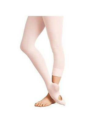 Body Wrappers C81 Girl's Medium/Large (8-14) Ballet Pink Convertible Tights