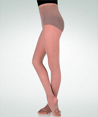 Body Wrappers C81 Girl's Size Medium/Large (8-14) Jazzy Tan Convertible Tights