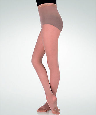 Body Wrappers C81 Jazzy Tan Girl's Size M/L(8-14) Convertible/Transition Tights