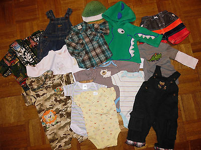 THE CHILDREN'S PLACE CARTER'S Mixed Lot 14 ITEMS Baby Boys Clothes 0 to 9 MONTHS