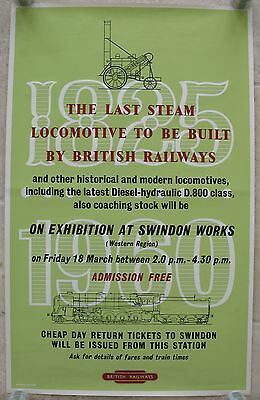 Original 1960 British Railways Poster Studio Seven Last Steam Locomotive Swindon