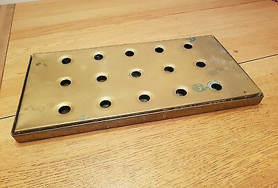 A used beer brass drip tray from an old pub. Ideal for mancave etc.