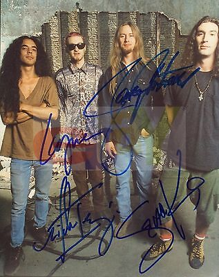 REPRINT RP 8x10 Signed Autographed Photo: Alice in Chains Group w/Layne Staley