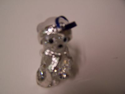 Swarovski Crystal 2006 Kris Bear Ornament In Robe.