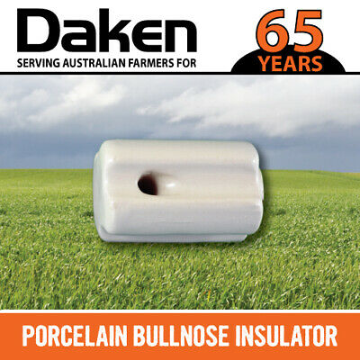 Porcelain End Strain Insulator 40 Pk - Electric Fence Wire Poly Tape Bullnose