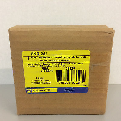 NIB Square D 5NR-251 Current Transformer