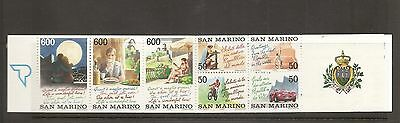 San Marino SC # 1262a Tourism Type . Complete Booklet