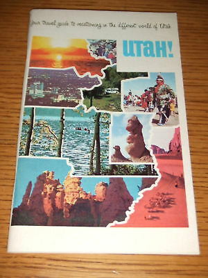 VINTAGE 1969 Travel Guide to Utah Tourist Booklet UT Motel Association Council