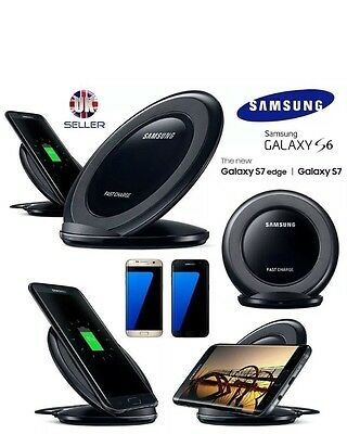Fast Wireless Charger Samsung Galaxy S7/S7,Edge,+,Note(5+7)Pad With Stand+Black