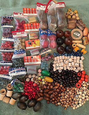 Huge Lot Vintage Macrame Beads Over 650 Pieces