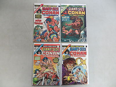Giant-Size Conan The Barbarian 4 Issue Bronze Comic Lot 1-4 Marvel