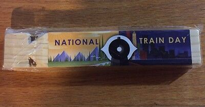 National Train Day - May 11, 2013 - Trains Matter Wooden Whistle - Brand New!
