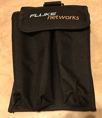 Fluke Networks Brand Velcro 2 Pouch Carrying Bag for tools and testers
