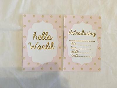 Glitter Is Gold Baby Girl Milestone Cards
