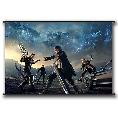 Hot PS4 Final Fantasy XV Paintings Scroll Poster Home Decoration 60*90 cm #1